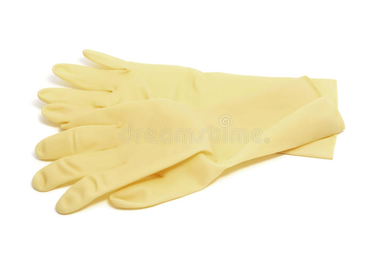 Household rubber gloves royalty free stock images