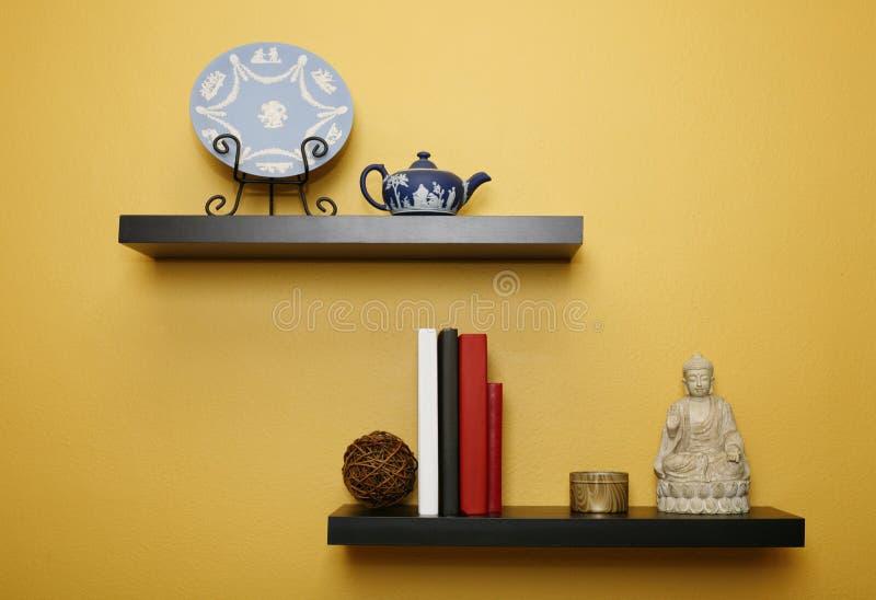 Household shelves stock images