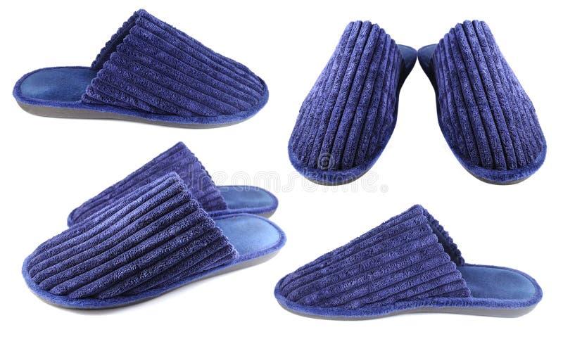 Household slippers for men royalty free stock image