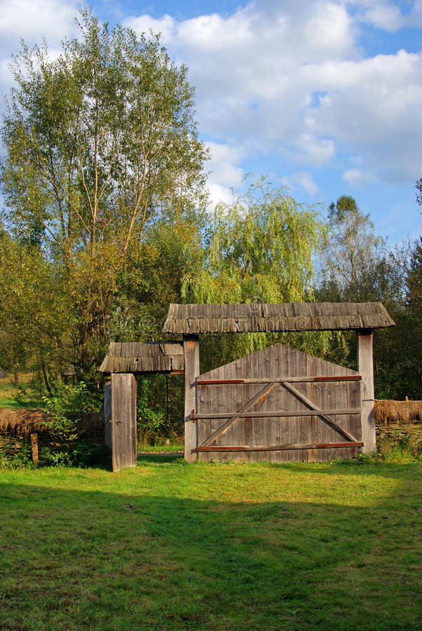 Free Household With Wooden Gate Royalty Free Stock Images - 16302669