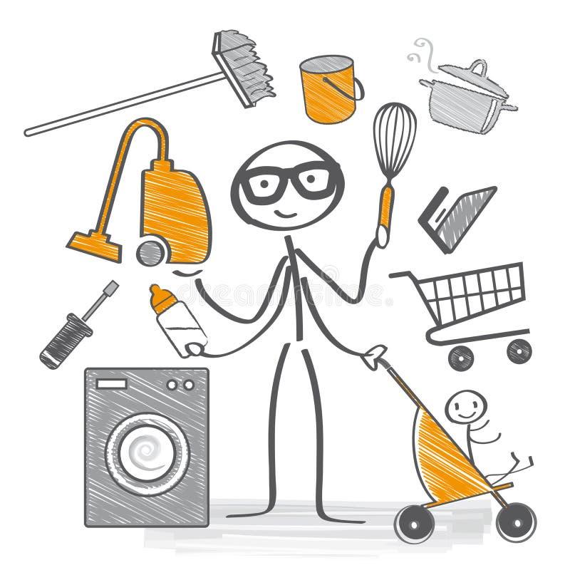 househusband illustration stock
