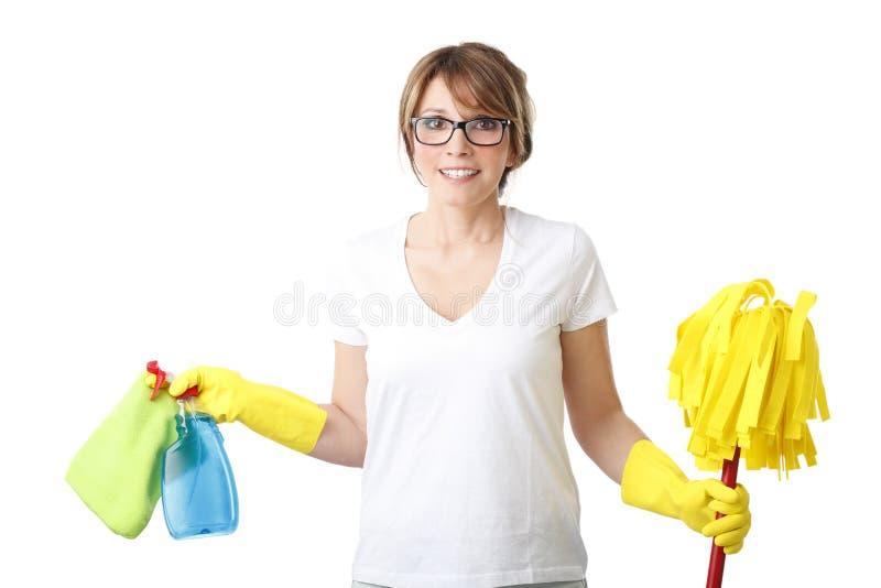 housekeeper image libre de droits