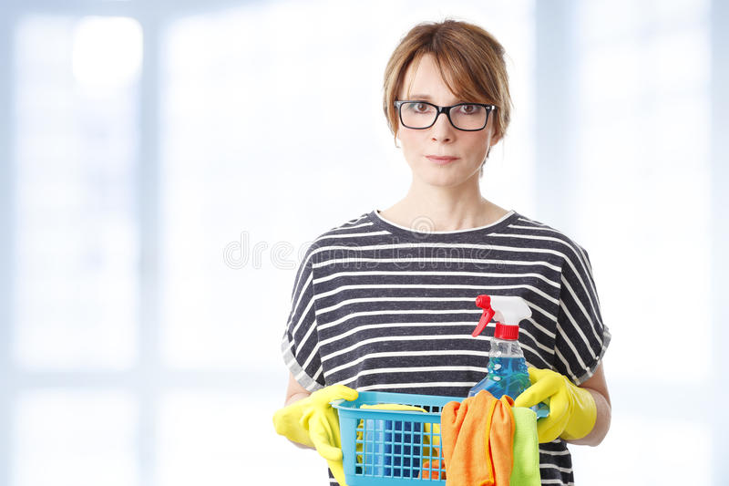 housekeeper image stock