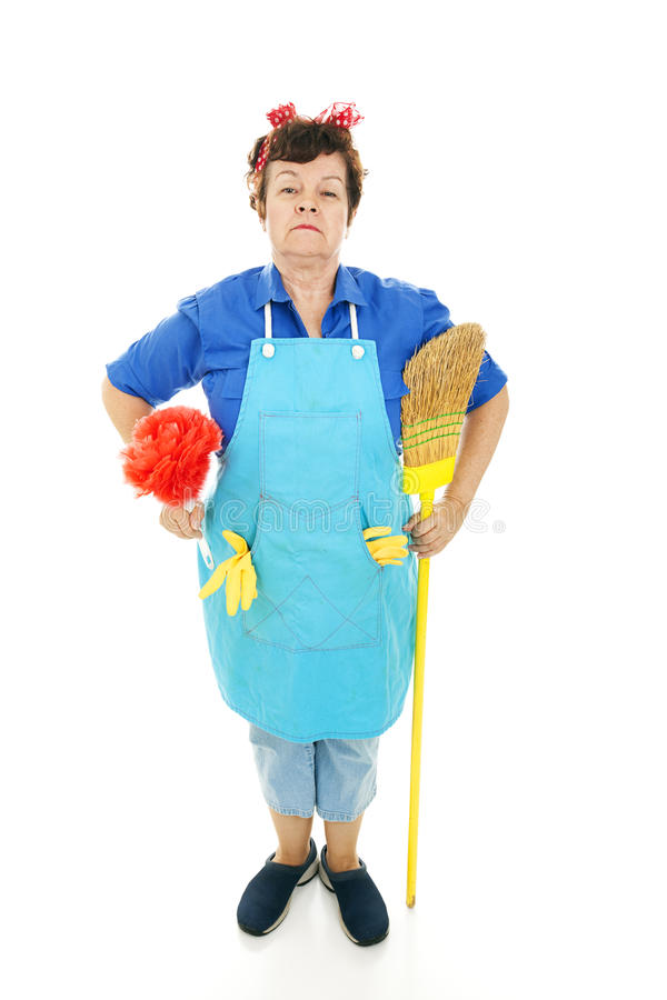 Housekeeper At Attention Royalty Free Stock Photos