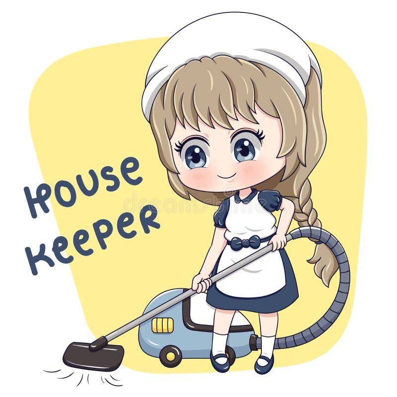 Housekeeper_5 vektor abbildung