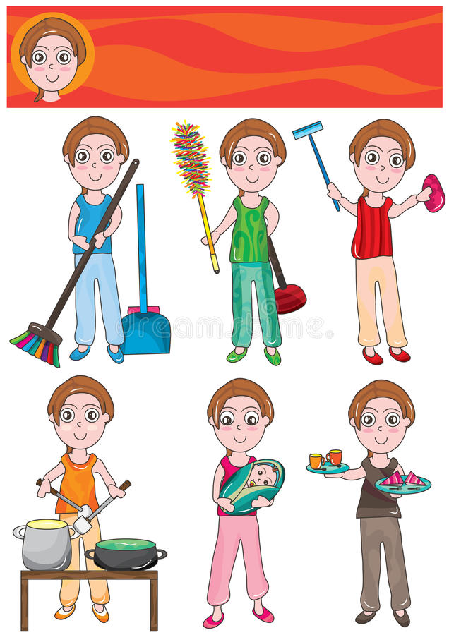 Download Housekeeper Set_eps Stock Photography - Image: 25272702