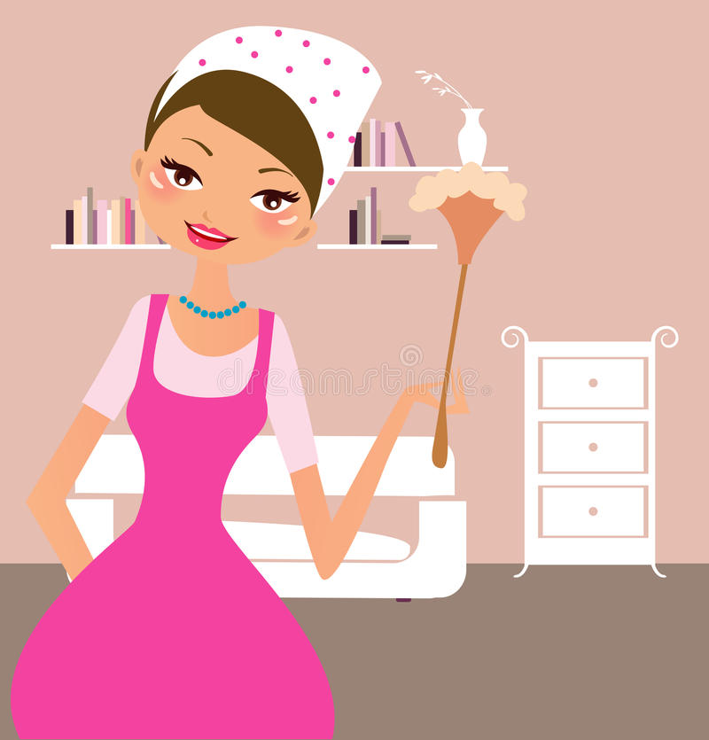 Download Housekeeping stock vector. Image of housework, lamp, stereotypical - 11800815