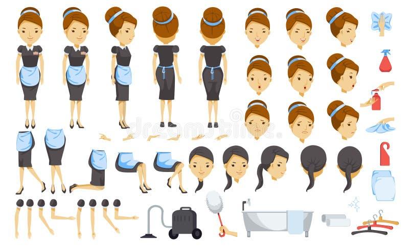 housekeeping ilustracja wektor