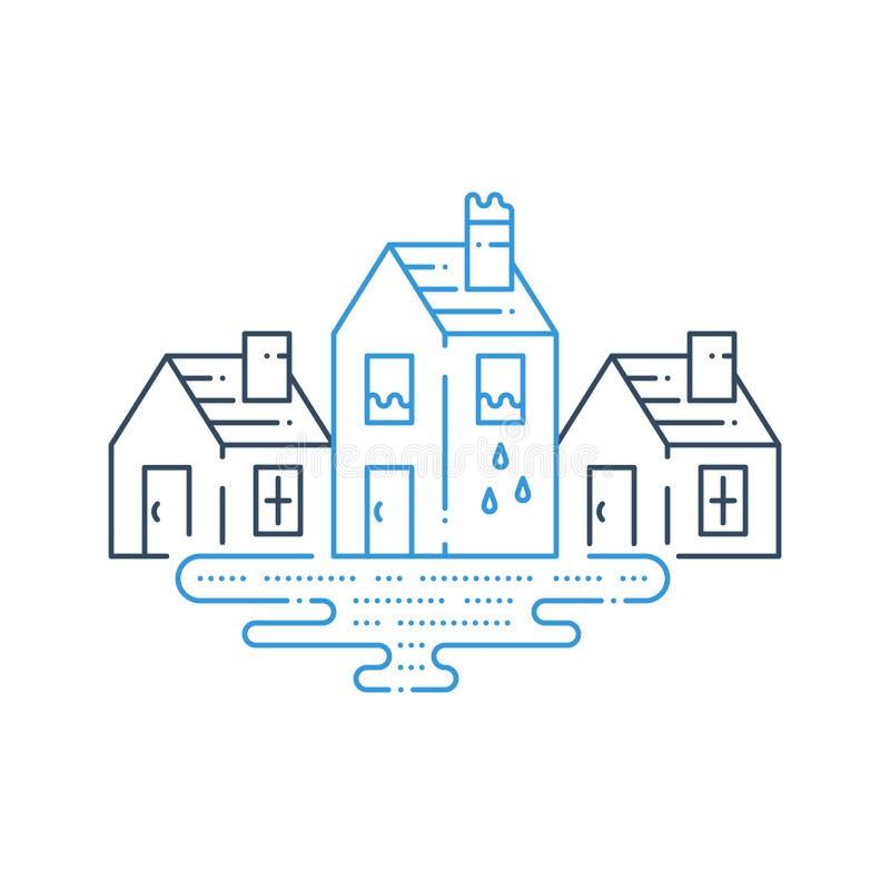 Housekeeping, fajczany wyciek, instalaci wodnokanalizacyjnej naprawa ilustracji