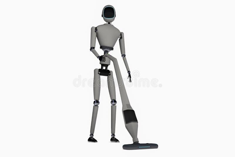 Housekeeping robot ilustracja wektor