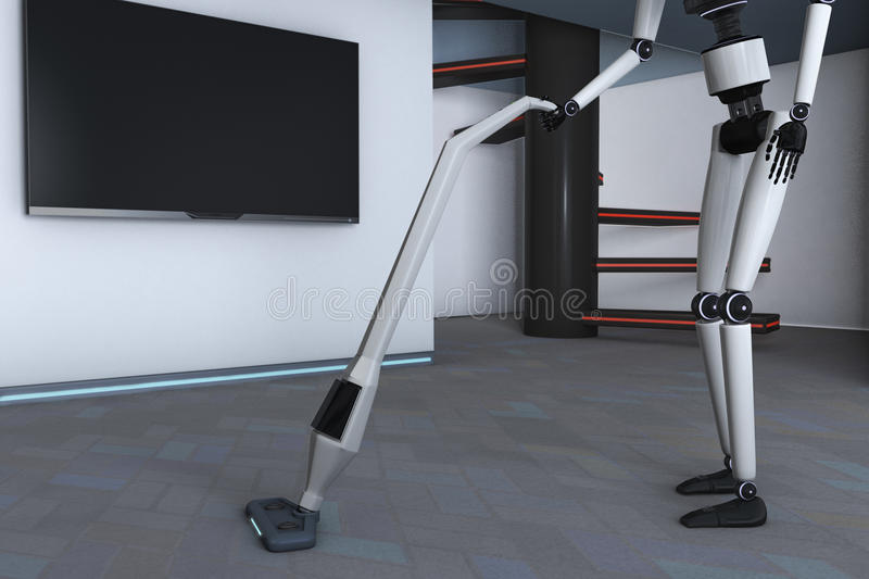 Housekeeping robot royalty ilustracja