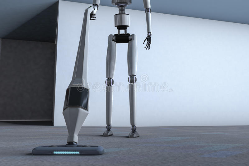 Housekeeping robot ilustracji