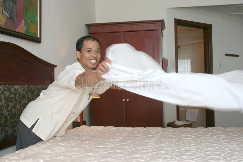 Download Housekeeping Or Room Boy Staff Stock Image - Image: 6130429