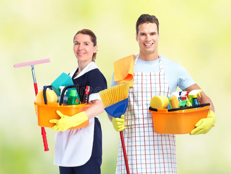 Housekeeping usługa drużyna fotografia royalty free