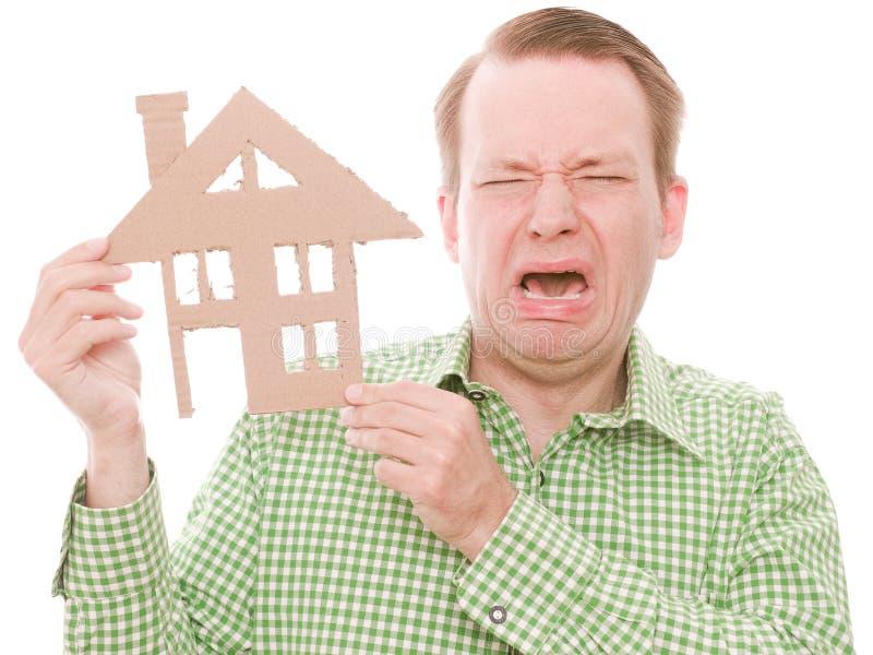 Houseowner pleurant photographie stock