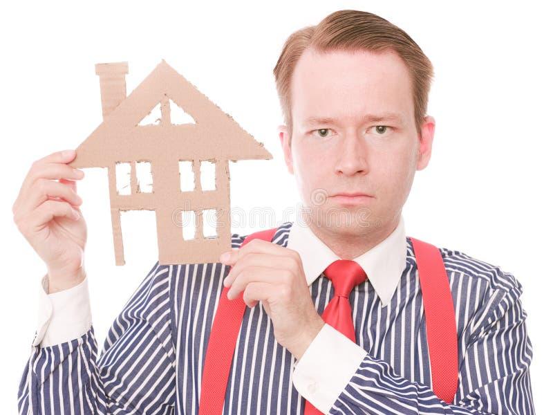 Houseowner sérieux d'affaires photos stock