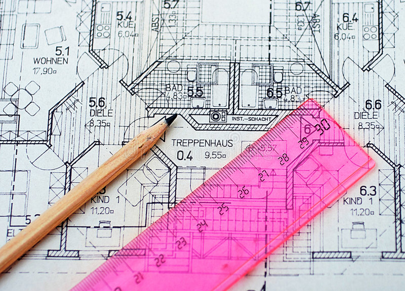 Houseplanning stock foto's