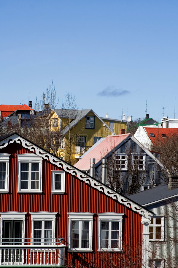 Houses. Pretty old houses - old town royalty free stock images