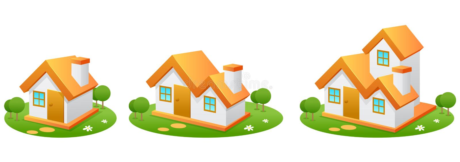 Download Houses stock illustration. Image of icon, residence, property - 17119951