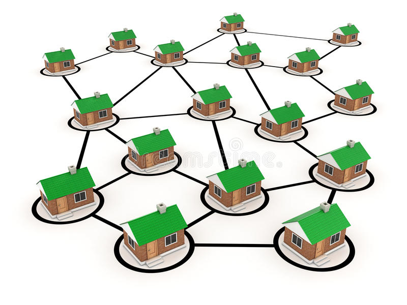 Download Houses stock illustration. Image of neighbours, connector - 23695001