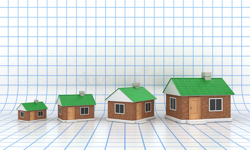 Download The houses stock illustration. Image of concept, credit - 26093128
