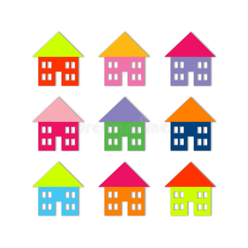 Houses stock illustration