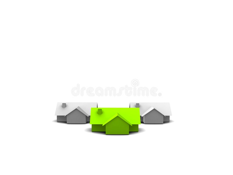 Download Houses stock illustration. Image of isolated, grey, property - 9155399