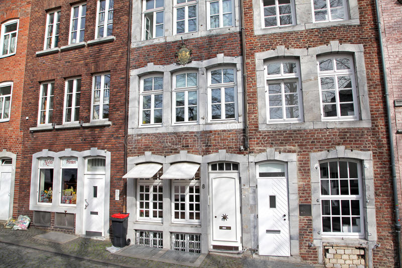 Houses at Aachen, Germany stock photography