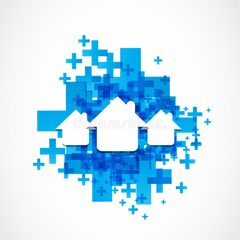 Download Houses stock vector. Illustration of blue, construction - 33607125