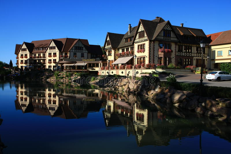 Houses In Alsace Editorial Stock Photo