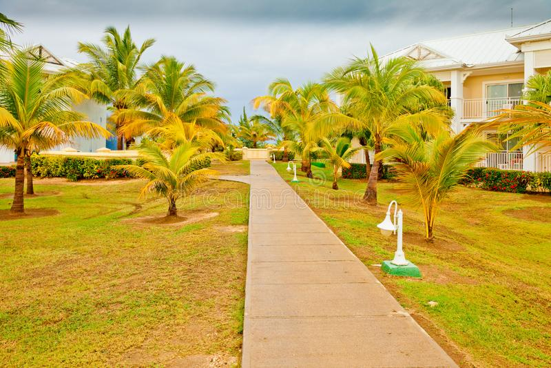 Houses on the beach in Varadero Cuba stock photo