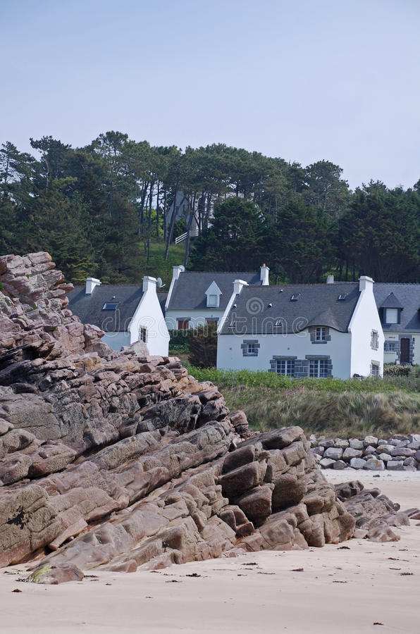 Download Houses with beach view stock image. Image of rocky, dwelling - 10775197