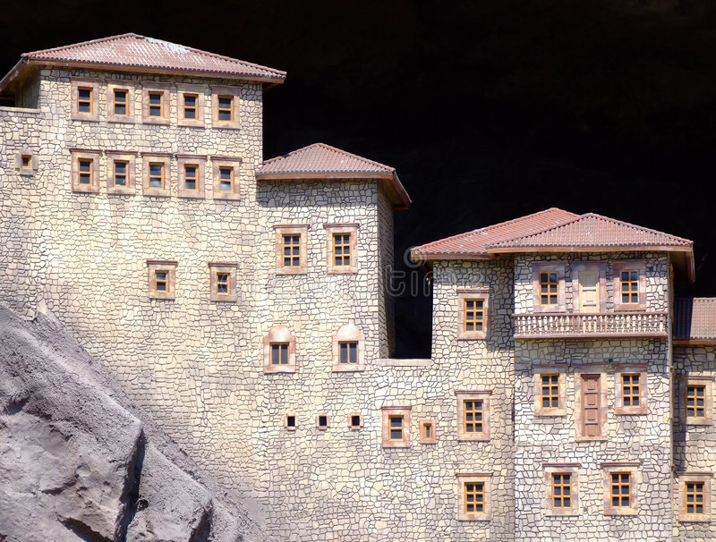 Houses Berg Arkivfoto