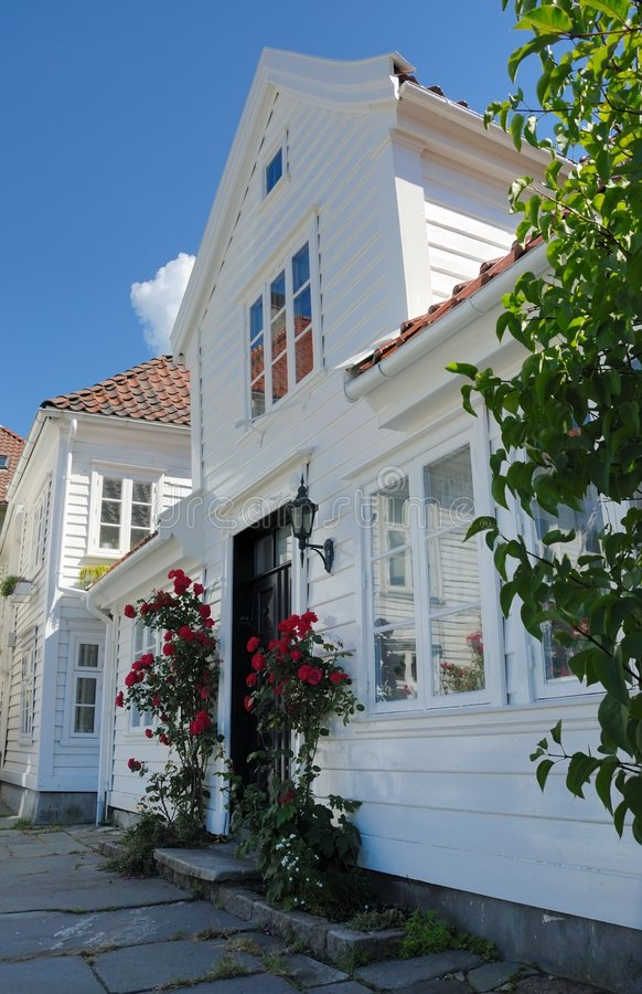 Houses in Bergen stock images