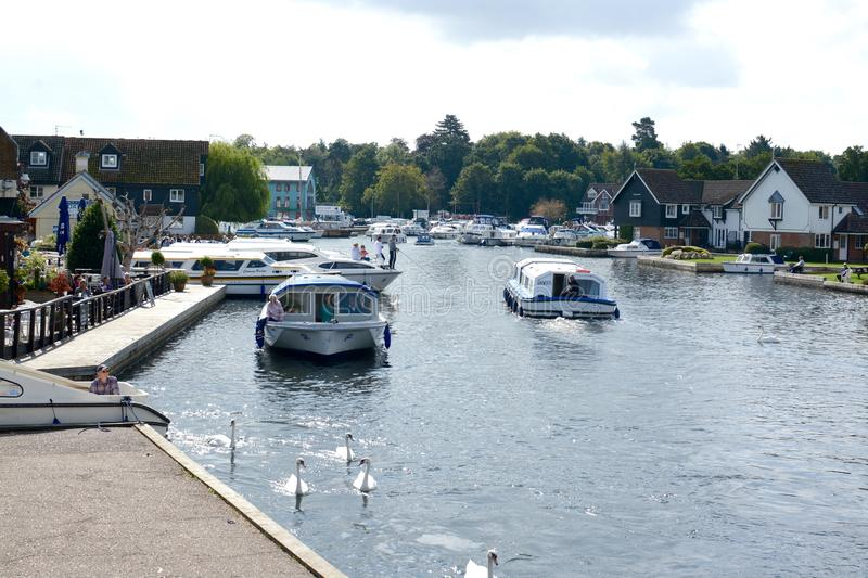 Wroxham and the river Bure stock images