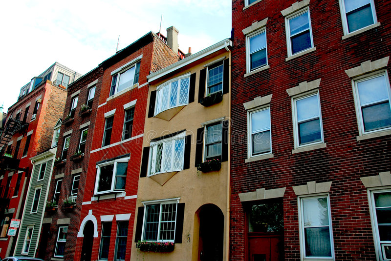 Houses in Boston stock photos
