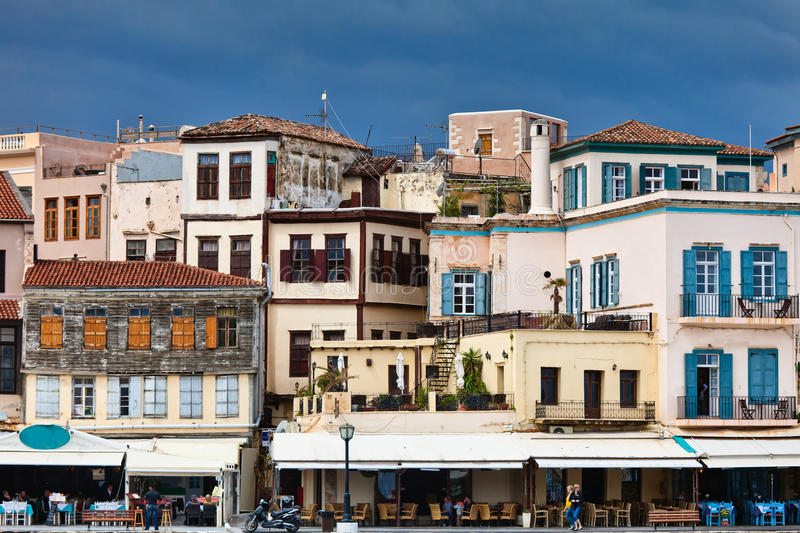 Houses in Chania, Greece. Houses in Chania, Crete, Greece royalty free stock image