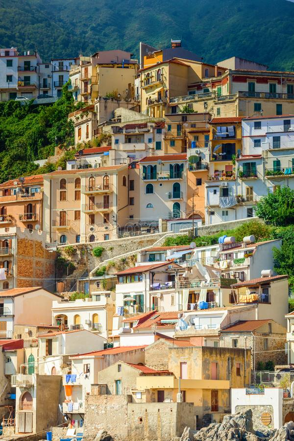 Houses of Chianalea di Scilla royalty free stock images