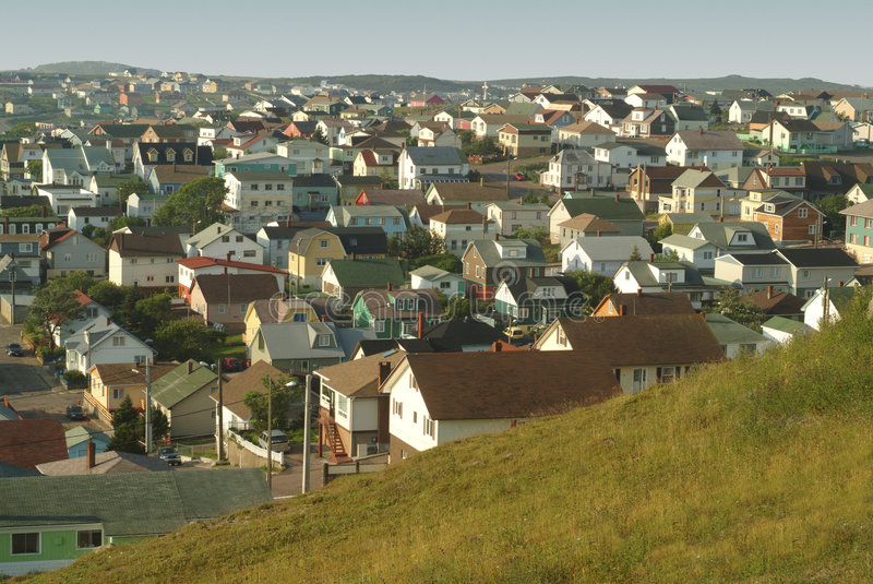Houses In Close Proximity. Stock Photo