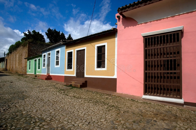 Houses in cuba royalty free stock images