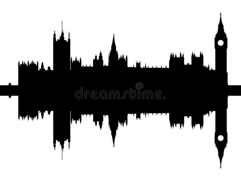 houses den london parlamentet vektor illustrationer