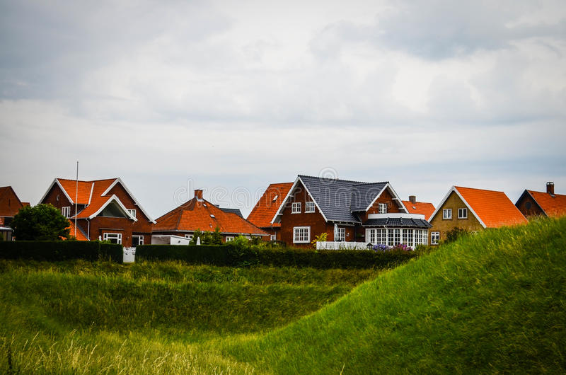 Houses in Denmark. Idyllic houses from Fredericia, Denmark royalty free stock images