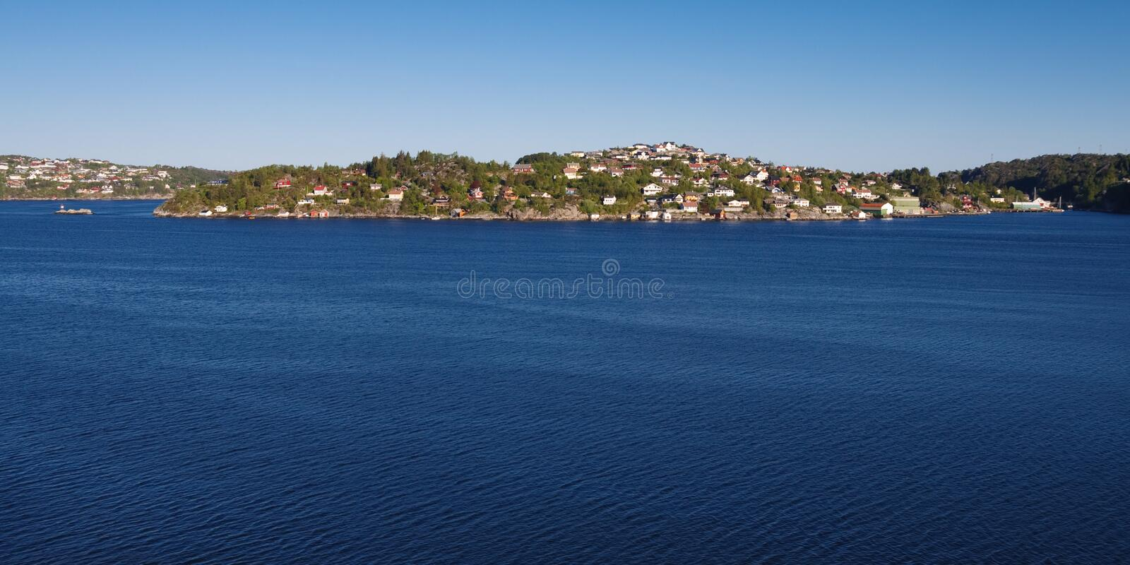 Download Houses At Fjord Shoreline Near Bergen, Norway Stock Photo - Image of fjord, coastline: 11358068