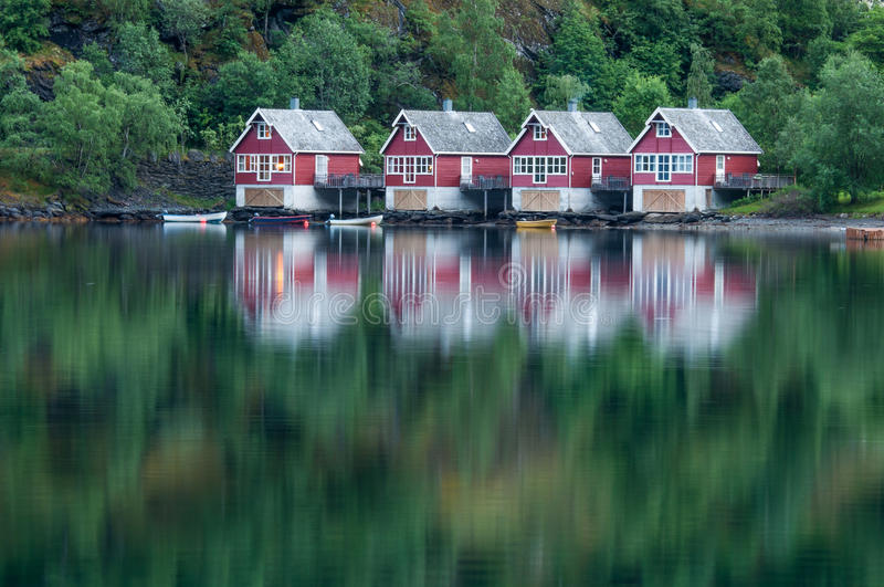 Download Houses in Flåm stock image. Image of silent, fjord, flåm - 34101565