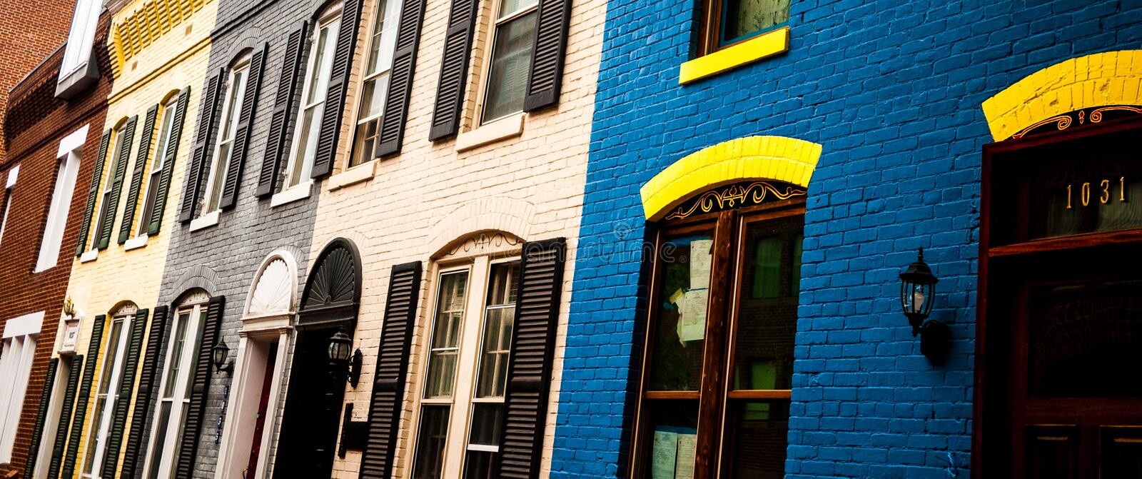 Houses in georgetown royalty free stock photo