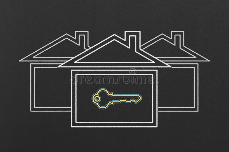 Houses royalty free illustration