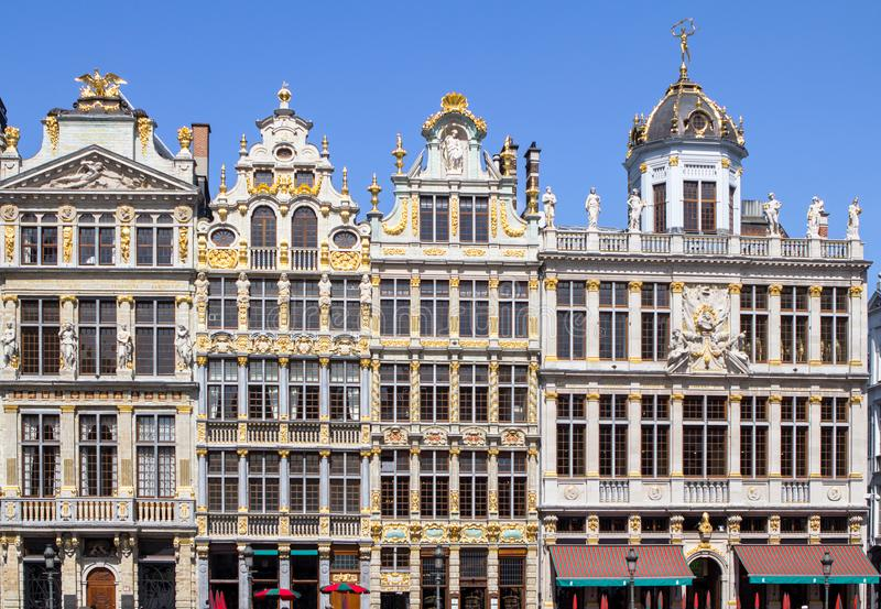 Houses on the Grand Place in Brussels, Belgium stock image