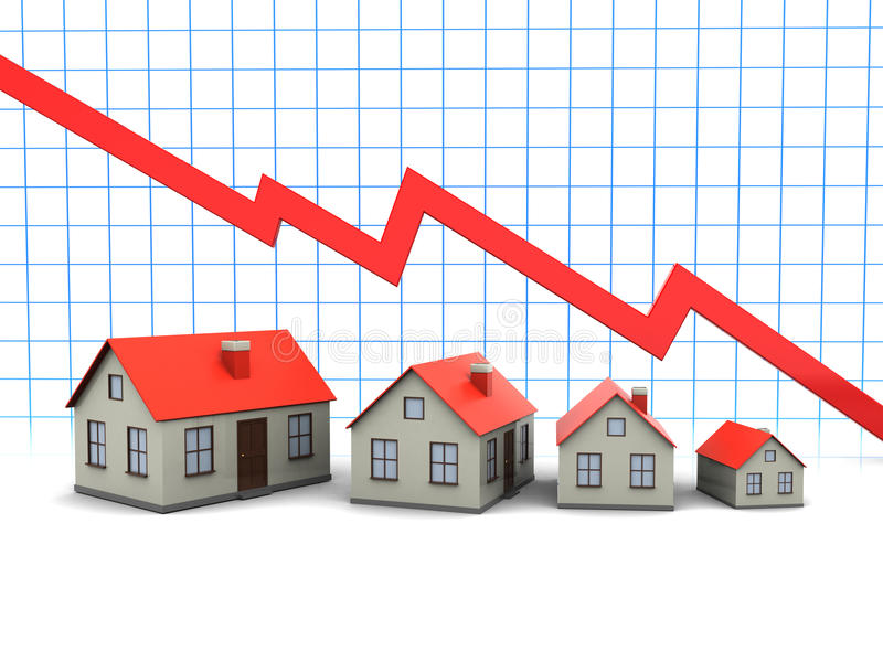 Houses And Graph Stock Photography