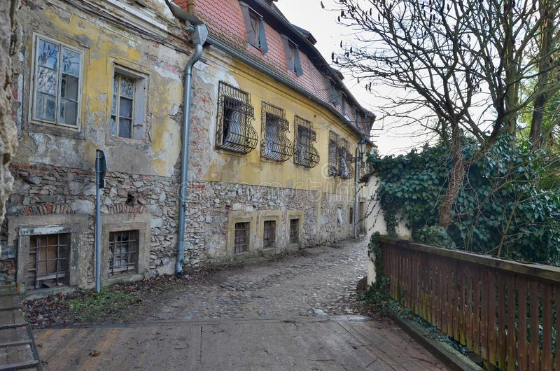 Houses in the historical part, town Jindrichuv Hradec, southern Bohemia. Czech Republic royalty free stock image