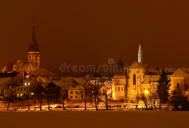 Houses in the historical part, town Jindrichuv Hradec, southern Bohemia. Czech Republic stock photos